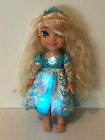 "My First Disney Princess Frozen Elsa 14"" Snow Glo Doll Talking Singing Toddler"
