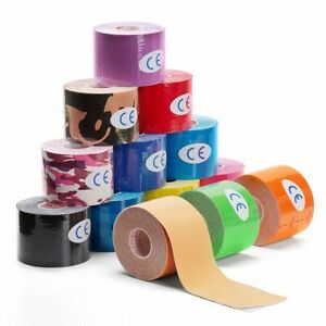 Elastic Sports Tape Kinesiology Athletic Recovery Self Adherent Taping Muscle
