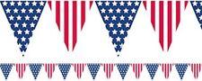 USA 4th Luglio Giorno dell'Indipendenza stelle e strisce partito Bunting BANDIERA STRISCIONE!