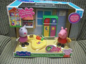 Playdate Fun w/ Suzy Sheep, Peppa Pig Playset & Closet lights up in package