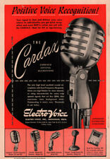 1948  A AD  ELECTRO VOICE INC THE CARDAX CRYSTAL MICROPHONE