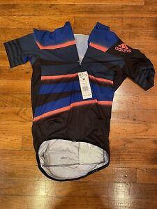 NEW NWT adidas Adistar Cycling Ciclismo Biking Jersey Men's Sz Medium Bike Shirt