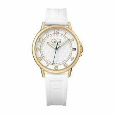 "Tommy Hilfiger Original 1781724 Women's ""Gigi Hadid"" White Rubber Watch 39mm"