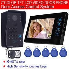 """2.4G 7"""" Video Door Phone Bell Doorbell Home Security Intercom System IR Camera"""