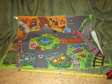 ~Fisher Price Little People~ Discovery City Play Mat B3281 Town Floor Mat scene