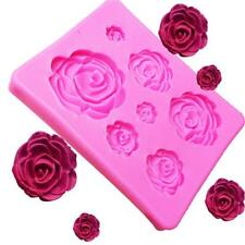 Mini Rose Flower 7 Cavities Silicone Mold For Polymer Clay Craft Resin Jewelry Q