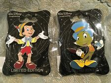 Disney WDI Pinocchio and Jiminy Cricket  Diamond Pin Le 250