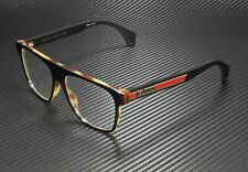 GUCCI GG0465O 002 Rectangular Square Black Demo Lens 55 mm Men's Eyeglasses