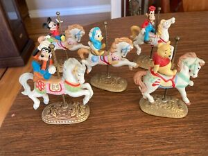 Disney New England collector Society Carousel horses Lot of 5 -see details
