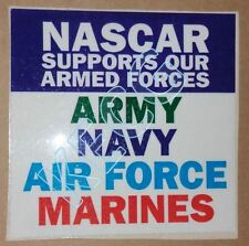 RARE NASCAR DESERT STORM TRIBUTE RACE DECAL STICKER SUPPORTS ARMED FORCES w/ COA