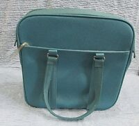 Old Samsonite Teal Profile Silhouette Luggage Tote Bag Carry On Shoulder FREE SH