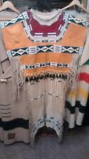 Native American Inspired Painted and Beaded Dress
