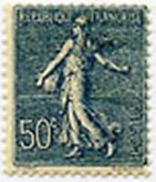 """FRANCE STAMP TIMBRE N° 161 """" TYPE SEMEUSE LYGNEE, 50 C BLEU """" NEUF xx LUXE"""