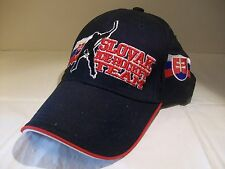 Slovak Ice Hockey Team Baseball Cap Hat Adjustable Black Red Blue White