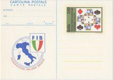 CARTOLINA POSTALE 350 LIRE 12/3/1983 BRIDGE TORNEO INTERNAZIONALE - NUOVO C193