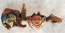HARD ROCK CAFE VENICE 3D BRONZE SKYLINE GUITAR SERIES PIN # 96771