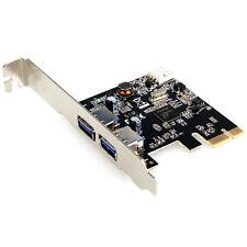 Dynamode Plug&Play 2 puerto PCIe USB 3.0 Tarjeta AÑADE USB 3.0 puertos a su PC