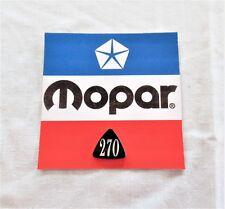 NOS 1963 63 1964 64 Mopar Dodge Dart 270 emblem medallion plastic resin insert