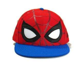 New Era 59Fifty Cap Red Blue Black White Marvel Spiderman Homecoming Size 7.5