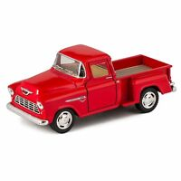 Kinsmart 1/32 1955 Chevy Step side Pick-Up Die Cast Collectible Toy Truck RED
