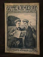 Der gute Kamerad 1909 Linienschiff Westfalen Aeroplan Bumerang Lasso Hüte Rätsel