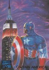 1995 Fleer Marvel Masterpieces Trading Card #17 Captain America