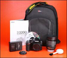 Cámara SLR Nikon D3200 D + AF-S 18-55mm Zoom Lente Kit-bajo VR utilizar sólo 184 disparos