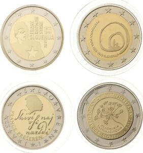 Lot - Slowenien - 4x: 2 Euro 2008, 2010, 2011, 2013 - PP Proof