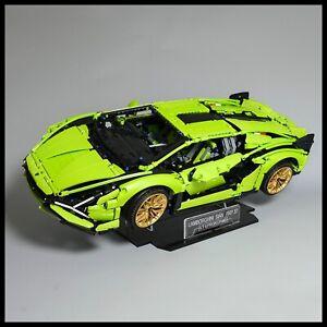 Lamborghini Sián FKP 37 Acrylic Display Stand for Lego Technic model 42115
