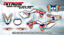 KTM Graphics Kit Decal Design Stickers SX SXF 125 250 350 450 2011 2012 11 12 MX