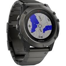 GARMIN Fenix 5X Sapphire Grey Metal Band Watch Topo Map Europe GPS HRM Sports