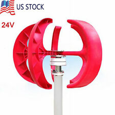 400W 24V Wind Turbine Generator Red Lantern Vertical 5 Leaves with Controller
