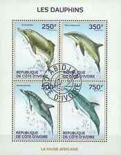Timbres Faune marine Dauphins Cote d'Ivoire 1290/3 o année 2014 lot 20564