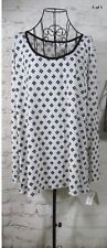 Lularoe NWT Blanc & Noir M  Lynnae Off-White w/ Black Geometric Contrast