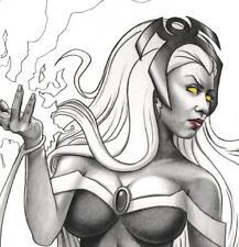 SIGNED Mark Sparacio X-Men Comic Art Exclusive Print Original Remark STORM