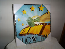 Home Theater Cinema Show Time Print Wall Art Plaque