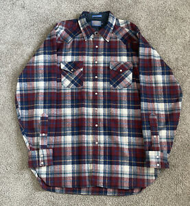Pendleton Men's 100% Virgin Wool Flannel Original Board Shirt Plaid XXL Tall