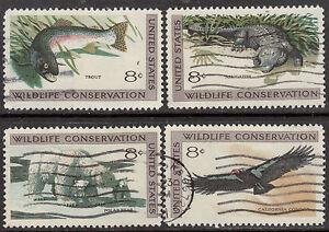 Scott #1427-30 Used Set of 4, Wildlife Conservation