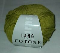 SKEIN/BALL OF COTONE BY LANG YARN - OLIVE