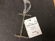 """Glitter/Beaded Letter Christmas Decorations """"I"""""""