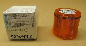 1 NIB SIEMENS 8WD4420-5DD ROTATING STACK LIGHT ELEMENT AMBER LED 24V AC/DC