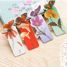 50pcs/lot Paper Butterfly Flower Bookmarks Cute Bookmark Book Marker Stationery