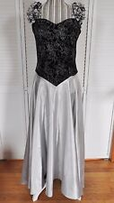 Long Evening Dress Wedding Ball Party Formal Prom Gown Black Gray NICE MUST SEE