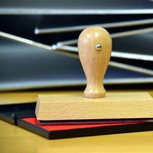 Stempel Holzstempel Firmenstempel Adressstempel 1-8 Zeilen mit Wunschtext