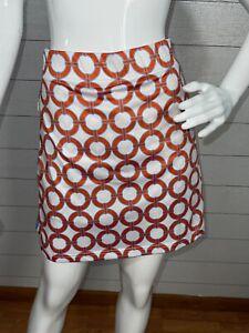 Gretchen Scott Pull On Skort Skirt Shorts Geometric Women's Size S