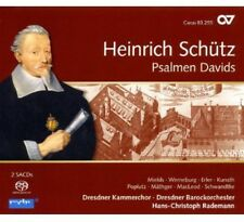 Schuetz: Psalms Of David - H. Schuetz (2013, SACD NIEUW) Sacd2 DISC SET