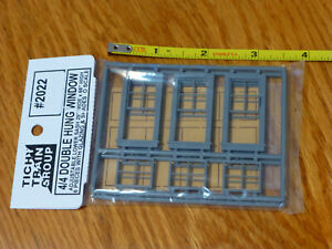 """Tichy Train Group O Scale #2022 4/4 Double Hung Window 29 x 66"""" (1:48th Scale)"""