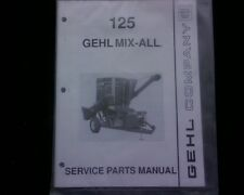 NEW Gehl 125 Grinder Hammermill Mixer mix all Spare PARTS Manual book