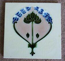 """Original  English  Art Nouveau tile , c1907/8 6""""x6""""Tile 1432 Last one."""