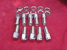 set of 10,1/2x20-1 & 3/8 long mag wheel lug nuts/washers,weld/etc,sst,closed end